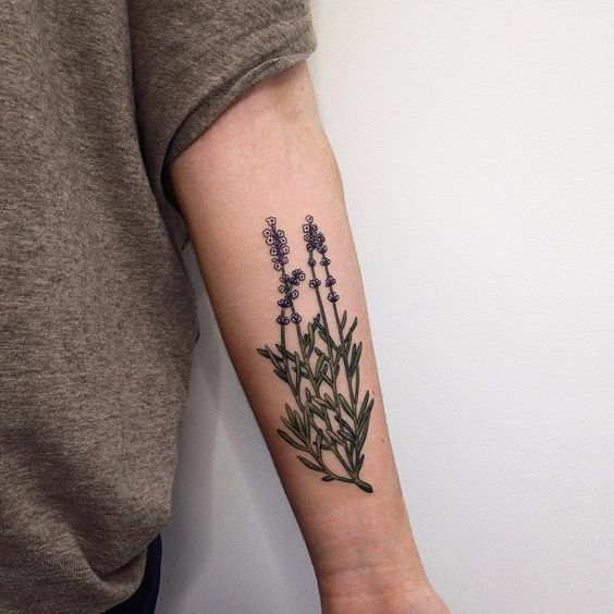 Wildflowers on the left inner arm