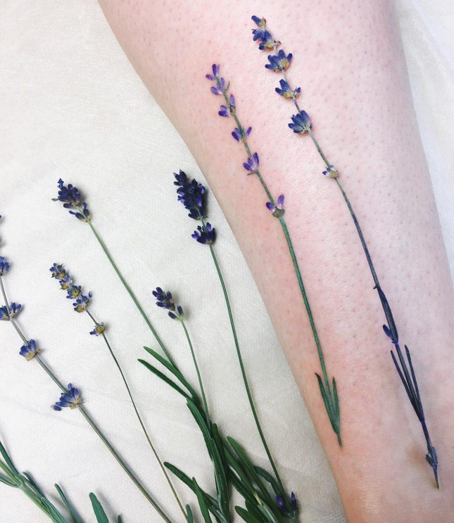 Wonderful lavender tattoo