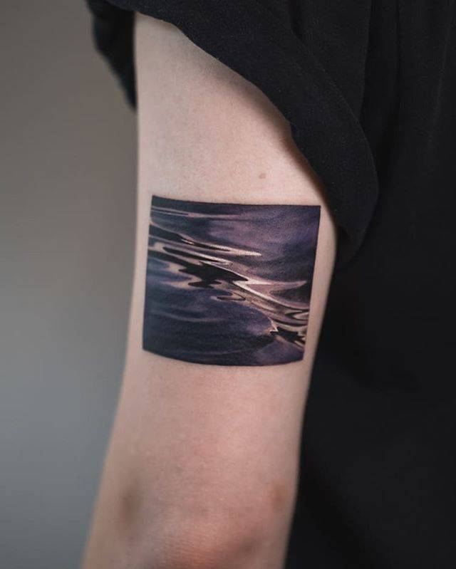 Abstract black rectangle tattoo