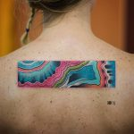 Abstract colorful rectangle tattoo