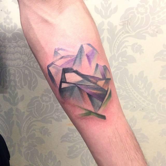 Abstract mountain tattoo