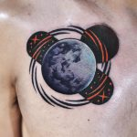 Abstract planet tattoo