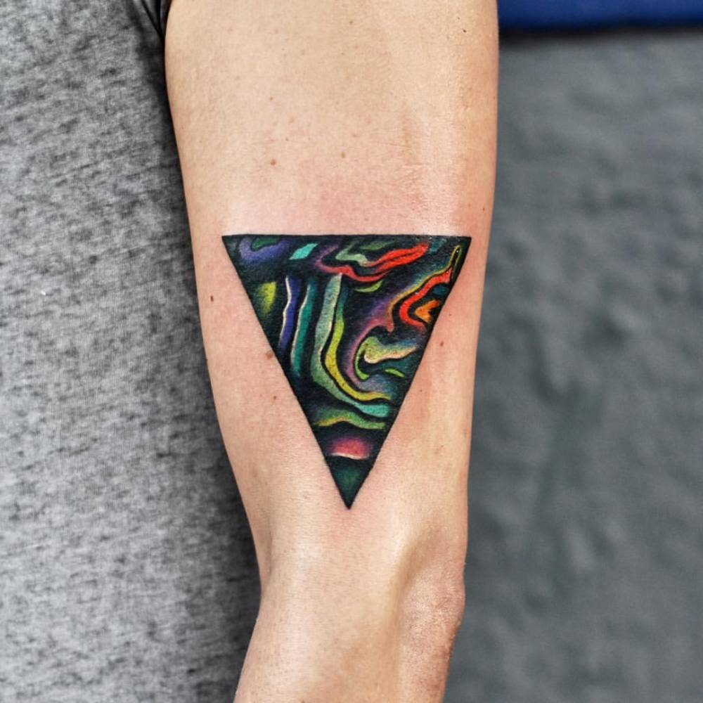 Abstract triangle tattoo