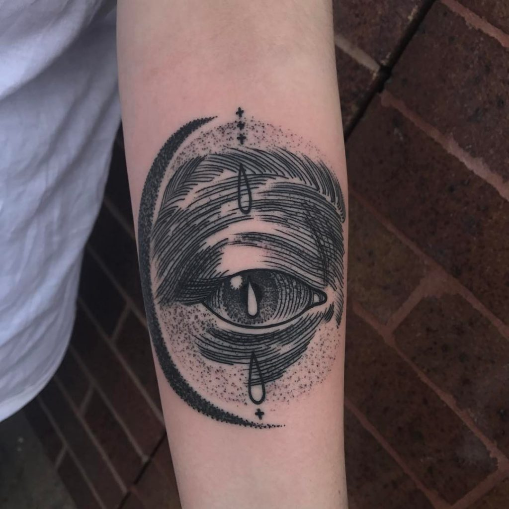 Blackwork eye tattoo