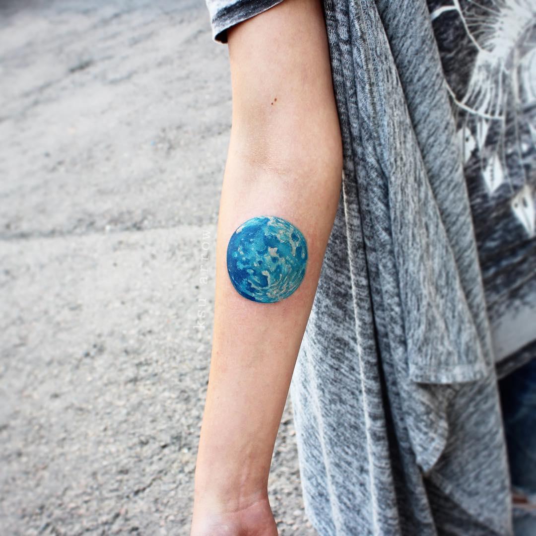 Blue planet tattoo