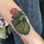 Cactus hear tattoo