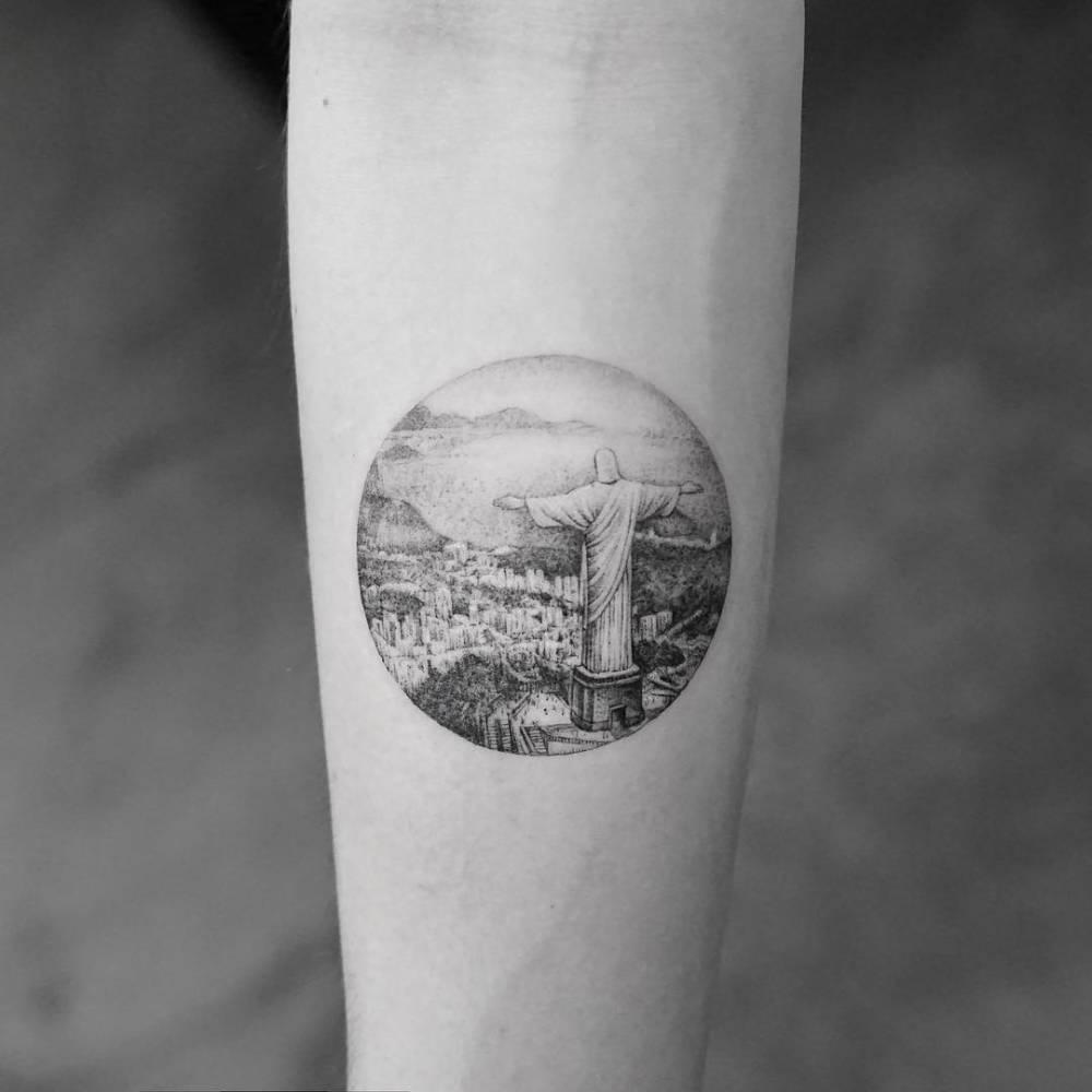 Christ the redeemer tattoo
