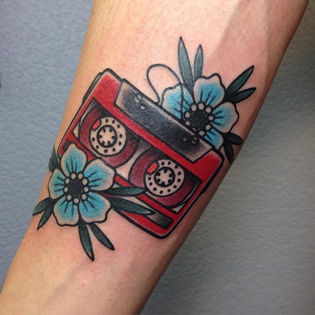 Compact cassette tattoo