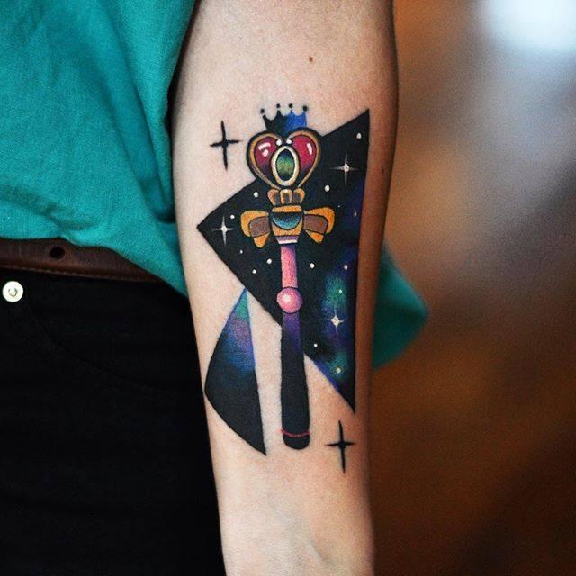 Cosmic scepter tattoo