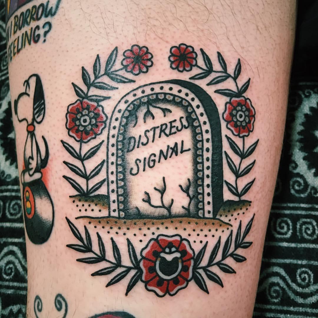 Distress signal tattoo