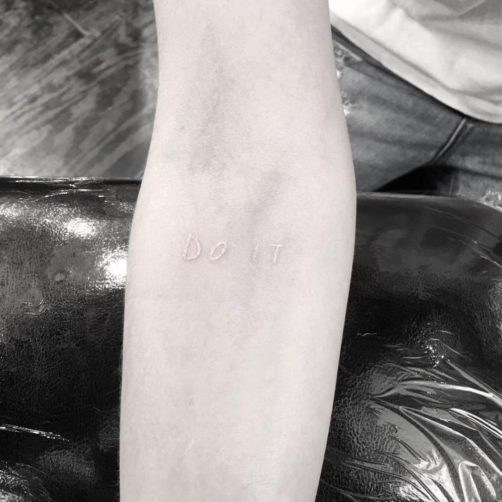 Do it white tattoo