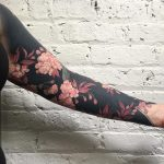 Floral full sleeve tattoo