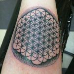 Flower of life tattoo on the forearm