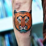 Head of a tiger tattoo