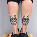 Husky head tattoos
