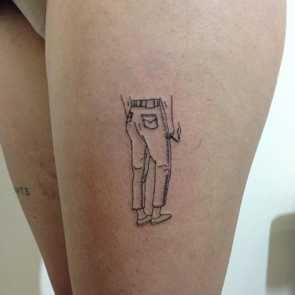Jeans tattoo