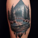 Lake landscape tattoo
