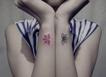 Wrist lotus flower couple tattoos pictures picturesboss matching lotus flower tattoos on wrists jpg 350x253 wrist lotus flower couple tattoos pictures mightylinksfo