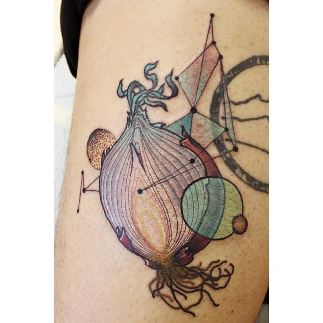 Onion tattoo