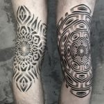 Optical illusion ornament tattoos