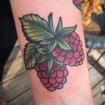 Raspberries tattoo