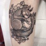 Sleeping animals tattoo