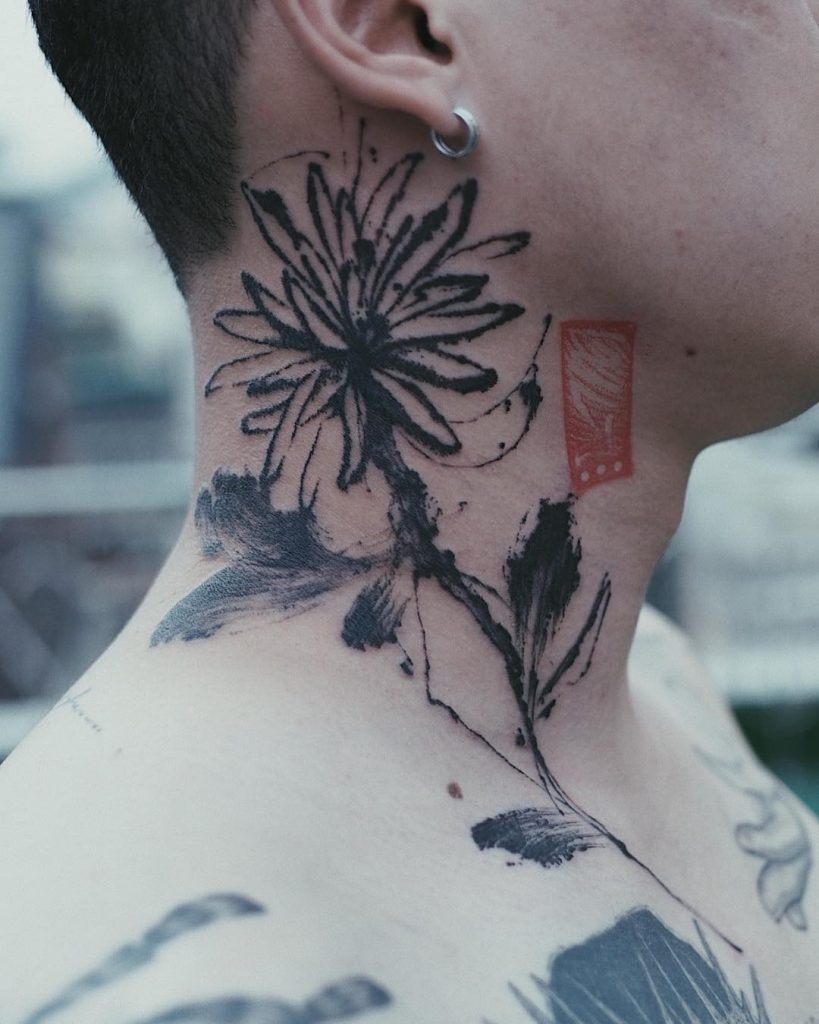 Watercolor japanese style tattoo