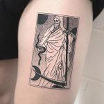 White grim reaper tattoo
