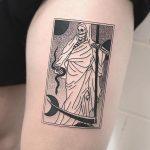 White grim reaper tattoo
