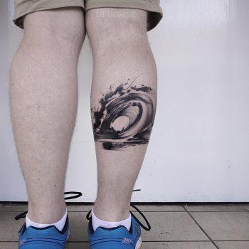 Abstract galaxy tattoo