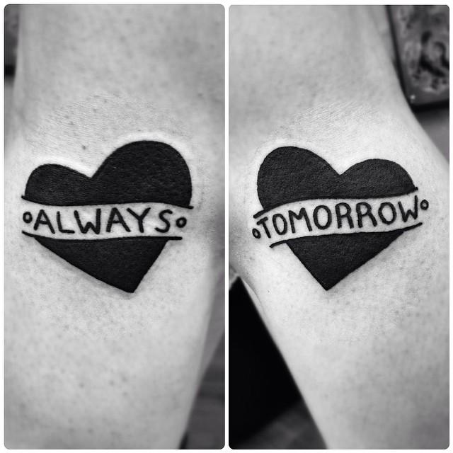 Always tomorrow matching tattoos