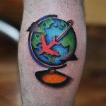 Around the globe tattoo