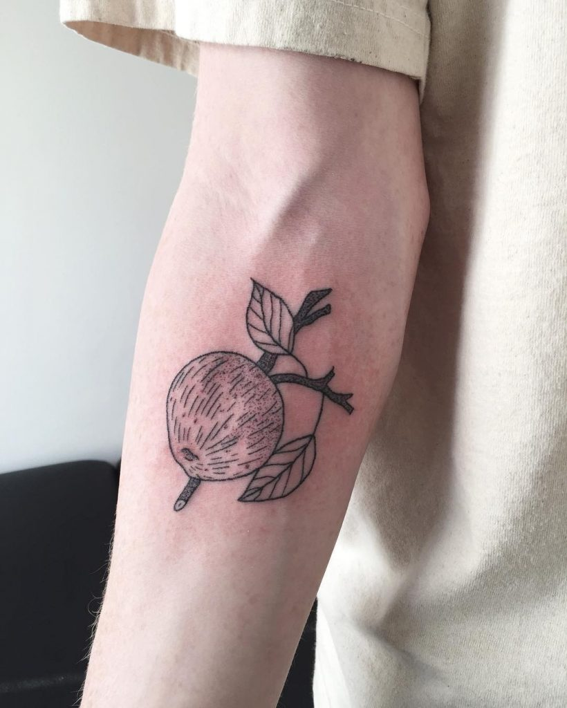Baldwin apple tattoo