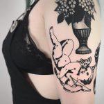 Baroque angel tattoo