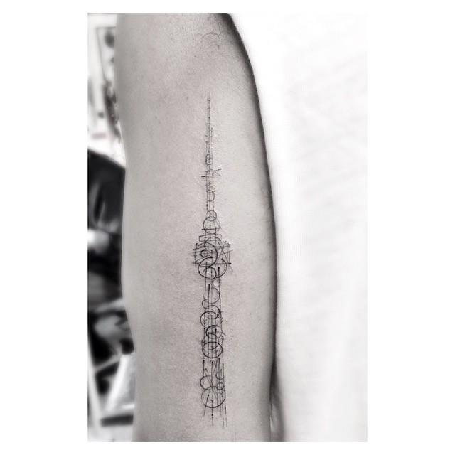 Cn tower tattoo