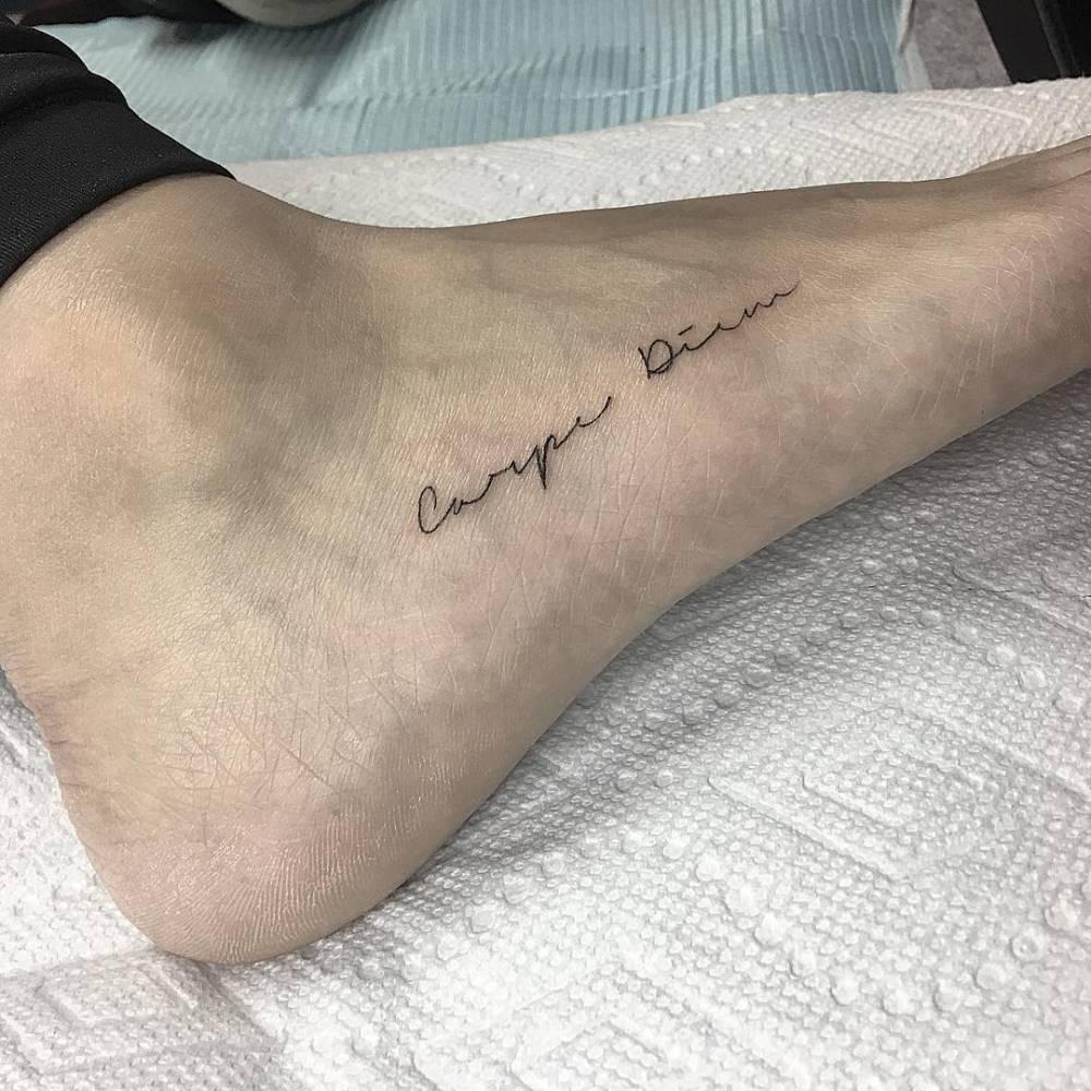 Carpe Diem Tattoo Ankle carpe diem tattoo on the foot - tattoogrid