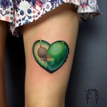 Censored avocado tattoo