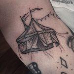 Circus tent tattoo