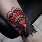 Classic ornamental flower tattoo