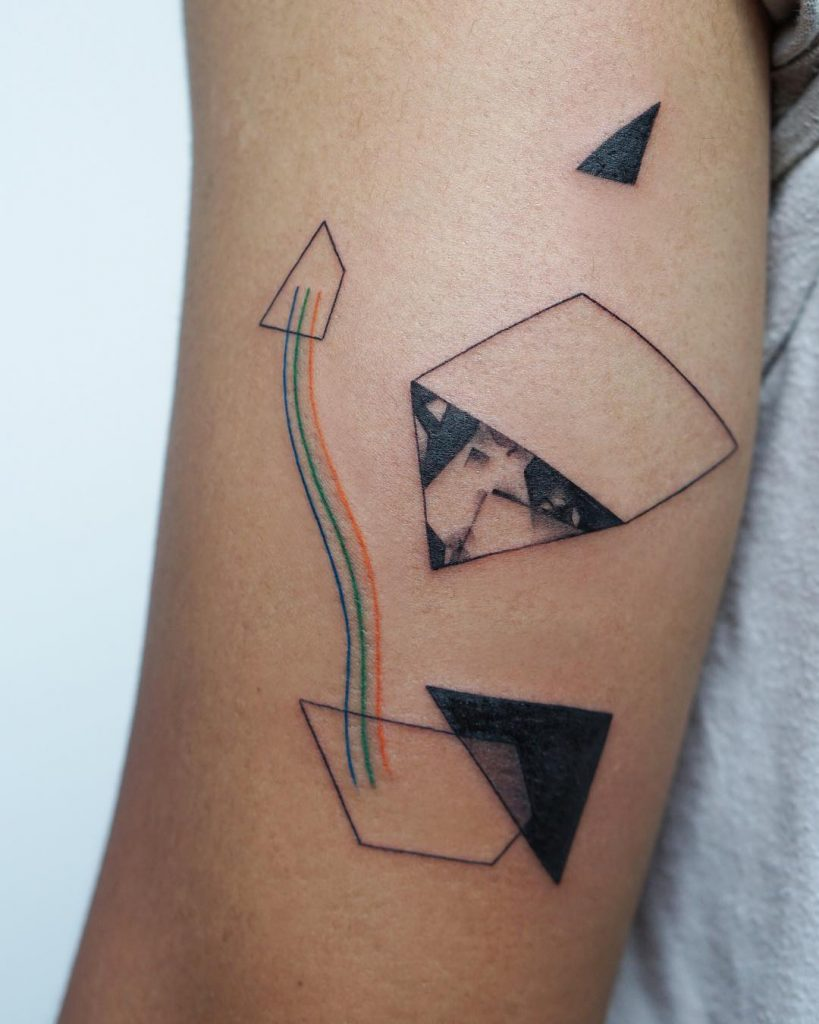 Collage tattoo