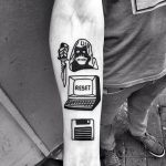 Computer and floppy disk tattoo