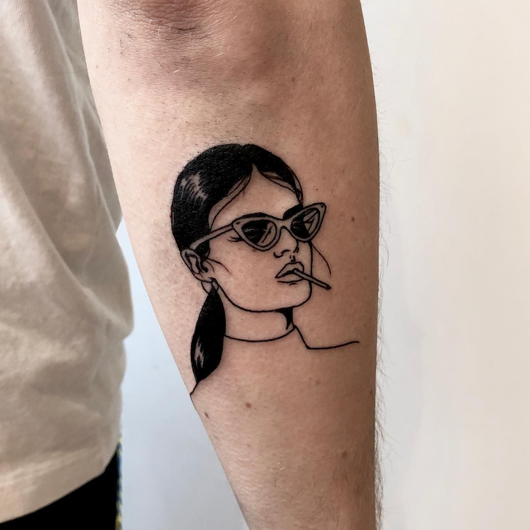 Cool babe tattoo