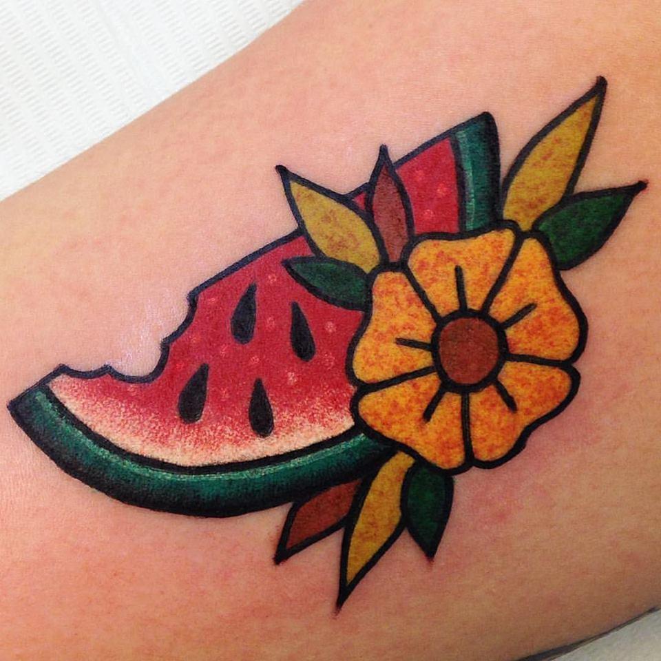 Crisp watermellon tattoo