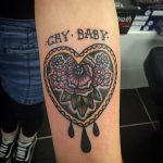 Cry baby tattoo
