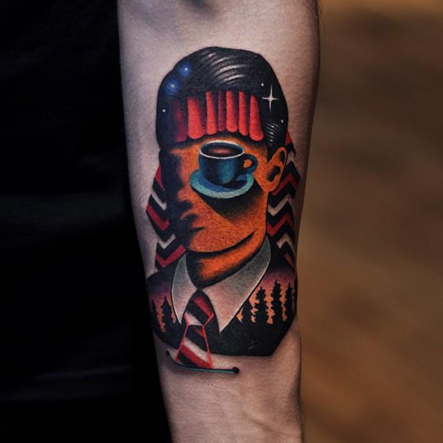 Dale cooper head tattoo