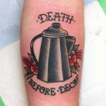 Death before decaf tattoo