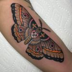 Death's head hawkmoth tattoo