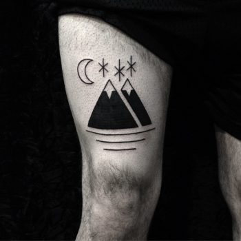 Double mountain tattoo