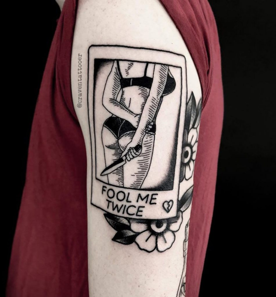 Fool me twice tattoo