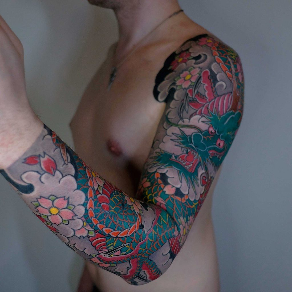 Full sleeve japanese tattoo